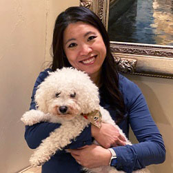 Doctor Wong and her dog